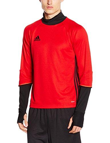 adidas Herren Sweatshirt Condivo 16 Training Trainingsoberteil, Scarlet/Black, M