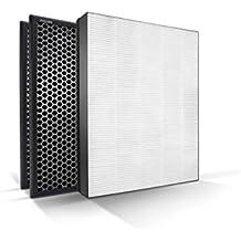 nanoprotect anual de repuesto Set con 1True filtro Hepa y 2filtros de carbón activado para purificador de aire de Philips Serie 1000y 1000i