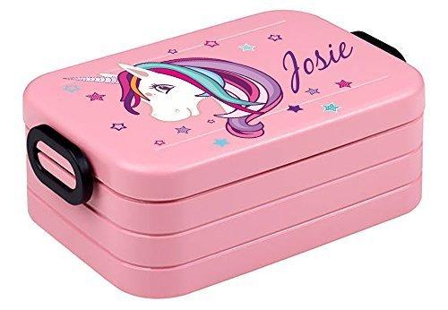 Lunchbox Rosti Mepal Maxi Take A Break midi Brotdose Brotbox mit eigenem Namen Unicorn Einhorn...