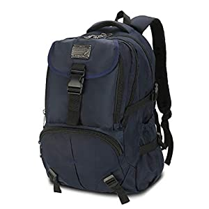 Mooedcoe 50L Mochila Hombre Viaje Casual Mochila Portatil Deporte Escolar Trabajo Negocio Grande (Azul)