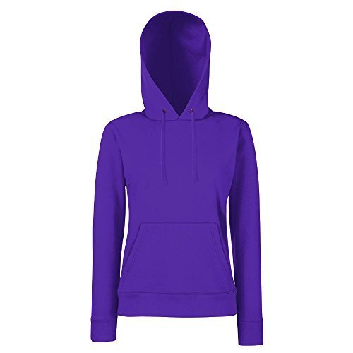 Fruit of the Loom - Lady-Fit Hooded Sweat XL,Purple