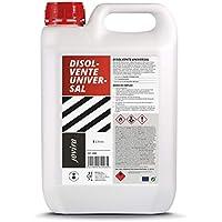DISOLVENTE UNIVERSAL Diluyente de pintura, Esmaltes, Barnicez, Antioxidantes. Limpieza de herramientas. (5 Litros)