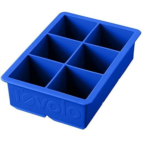 Tovolo King cubo Flessibile in Silicone per cubetti di ghiaccio, colore: blu (Mens Capris)