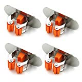 MEIYIJIA Selbstklebend Besen Mop Aufhänger Halter, Mop Clip Wandhalter Gerätehalter,304Edelstahl es wird nie rosten 4 Stüc