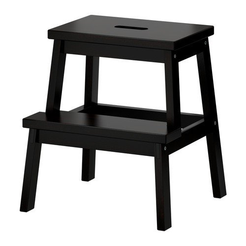 Ikea BEKVAM Wooden Utility Step stool in Black