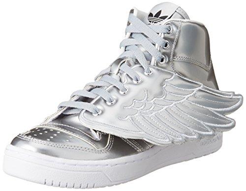 adidas Unisex-Erwachsene Js Wings Metal High-Top, Silber, 42 2/3 EU (Wings Js Adidas)