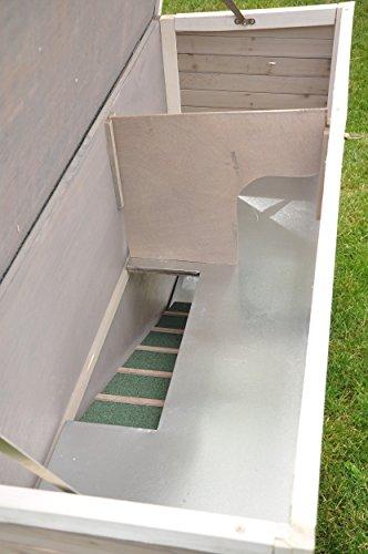 Kaninchenstall Moritz 2 – praktisches Kleintierhaus für alle Lebenslagen (doppelstöckig) - 7