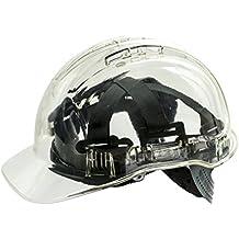 Casco Workwear World WW336, duro, de trabajo, translúcido, con ventilación y de