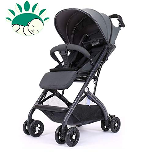Spazierganger Baby Stroller High Landscape Can Sit Reclining Lightweight Falten Umbrella/Five-Point Seat Belt/Adjustable Bein Rest