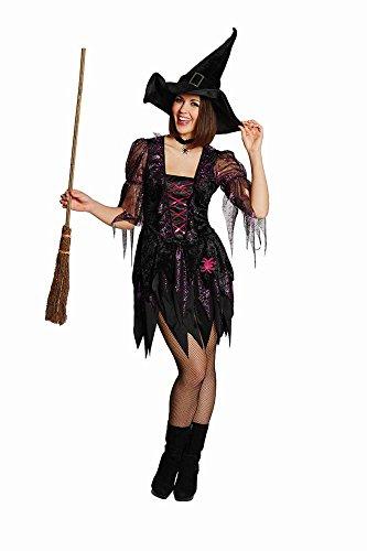 (Rubie's Damen Kostüm Spider Witch als Hexe Karneval Fasching Halloween Gr.40)