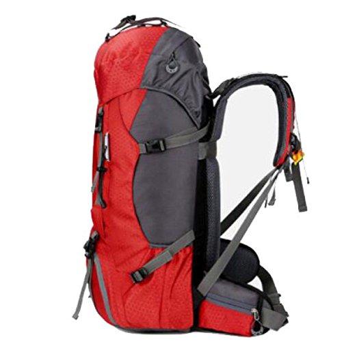 Outdoor Sport Wandern Camping Rucksack Pack Erkunden Trekking Klettern Rucksack Tasche,Green Red