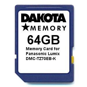 Dakota Memory 64GB Memory Card for Panasonic Lumix DMC-TZ70EB-K (Card-panasonic Lumix Memory)