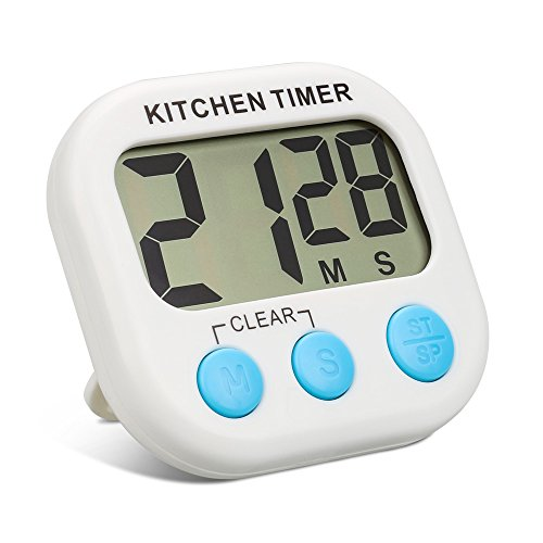 Küchen Timer ,Topist Digitale Küchenuhr/ Elektronischer Timer/Küchentimer/Kochentimer/,Digital Timer mit Großem Bildschirm und Magnet für die Küche zum Kochen, Backen, Spiele, Sport und Büro
