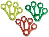 Gima - Esercitatore Dita, Set di 3 Pezzi con Diversi Livelli di Resistenza, Giallo/Leggero, Verde/Medio, Rosso/Forte.