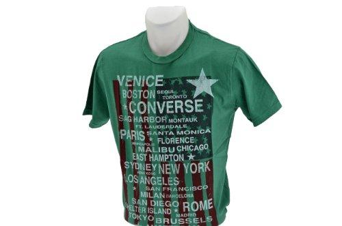Converse Cities T-shirt Neu Herren Swear Grün