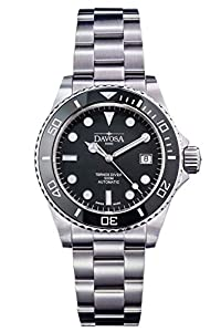 Davosa Automatic Black Ternos Professional Divers Watch with Helium Valve Wrist Watch
