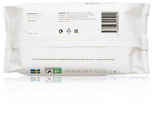 Naty by Nature Babycare Öko Feuchttücher Leicht Parfümiert, 12er Pack (12 x 56 Stück) - 2