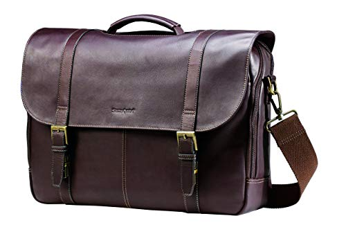 Samsonite kolumbianischen Leder Flap-Over Laptop Messenger Bag, braun (Braun) - 45798-1139 -