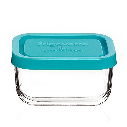 Contenitore per alimenti in vetro TEMPERATO conservare frigorifero freezer Bormioli Frigoverre System 10x7 c