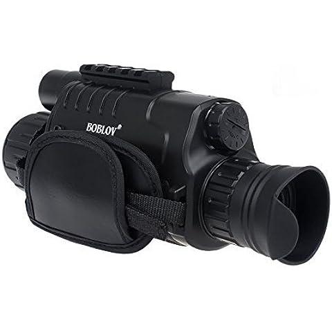 Boblov 5x40mm HD 8GB Monocular Visión Nocturna con LCD TFT 1.4 pulgadas Función de Cámara y Videocámara Monocular de Visión Nocturna para Caza Juegos de Scouting Seguridad y Vigilancia Camping Pesca Noctura Observación de Aves Golf (Monocular+