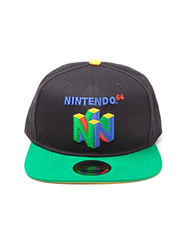 Preisvergleich Produktbild Difuzed Unisex Baseball Cap Nintendo Original N64 Logo Snapback,  One Size,  Multi-Colour (Sb097565Ntn),  schwarz