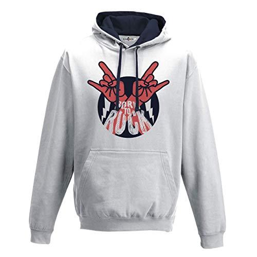 KiarenzaFD Bico Musica Hard Rock Metal Thunder Corna Old School Grunge, KFB02168-XL-white, weiß, XL - Pantera-metal-skull T-shirt