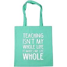 HippoWarehouse enseñanza no es toda mi vida que hace que todo mi vida Tote Compras Bolsa de playa 42cm x38cm, 10litros