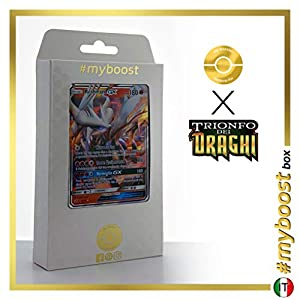 Reshiram-GX 11/70 - #myboost X Sole E Luna 7.5 Trionfo dei Draghi - Box de 10 Cartas Pokémon Italiano