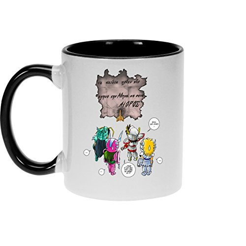 Mugs Saint Seiya - Les Chevaliers du zodiaque parodique Seiya, Shiryu, Hyoga et Shun dans la maison d'Aioros : 4 touristes japonais perdus en Grèce... (Parodie Saint Seiya - Les Chevaliers du zodiaqu