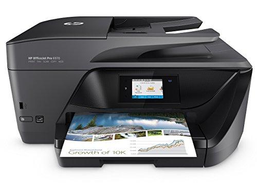 HP OfficeJet Pro 6970 All-in-One Tinten-Multifunktionsdrucker (Drucker, Scanner, Kopierer, Fax, LAN/WLAN) Schwarz