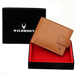WildHorn Old River Mens High Quality Genuine Leather Tan Wallet