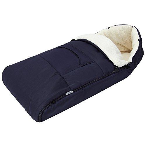 Chancelière bébé 93cm adapté poussettes, sièges bébé voitures - bleu foncé