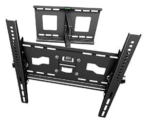 """RICOO Wandhalterung TV Schwenkbar Neigbar R33 Universal LCD Wandhalter Fernseher Halterung für Curved 4K OLED LED Fernsehhalterung 80-165 cm / 32""""-65"""" Zoll VESA 200x200 400x400 / Schwarz"""