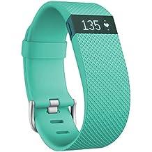 Fitbit Charge HR - Pulsera de actividad y ritmo cardíaco, color turquesa, talla L