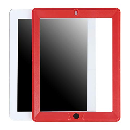 Ersatz-Displayschutzfolie für HDE Dual Layer stoßfeste iPad-Hüllen, kompatibel mit Apple iPad 9.7 Tablets der 2. und 3. Generation (ältere Versionen 2011-2013) - nur Displayschutzfolie Rot rot (Ipad-tablet Der 3. Generation)