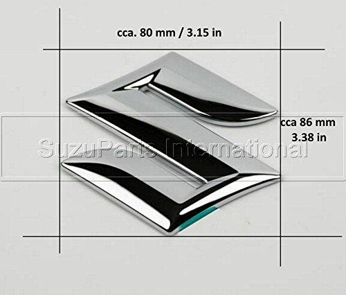 suzuki-swift-splash-sx4-s-cross-alto-vitara-2015-format-a5-arriere-queue-badge-embleme-chrome-sticke