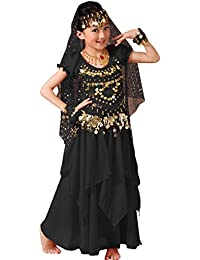 e24c47694f Astage Chica Vestido Danza del Vientre India Halloween Carnaval Disfraces  Azul Cielo L