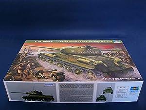 """Trumpeter 902 T-34/85 Model 1944 """"Factory n.º 183"""" - Tanque a Escala"""
