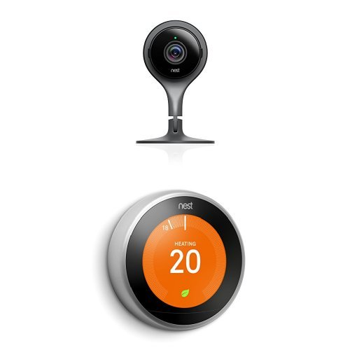Nest Cam Security Camera + Nest Learning Thermostat