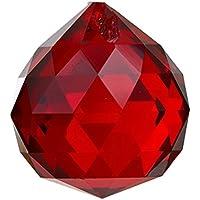 TOOGOO(R) 30 millimetri palla di cristallo prismi rosso - Ornamento Suncatcher