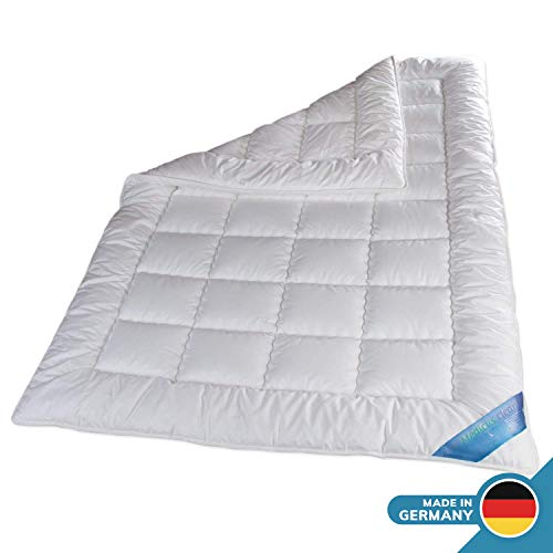 Schlafmond Medicus Clean Allergiker Sommerdecke 200 x 200 cm, wärmeregulierende Decke aus Baumwolle, Bettdecke bis 95 Grad waschbar, Made in Germany