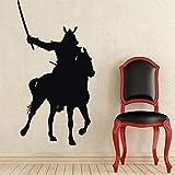 guijiumai Dctal Kendo Autocollant Cheval Samurai Decal Japon Ninja Affiche Vinyle Art...