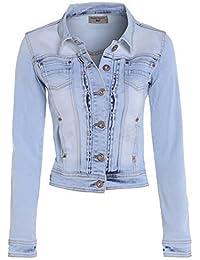 NEW Womens Denim Jacket Stonewash Blue Size 8 10 12 14 16