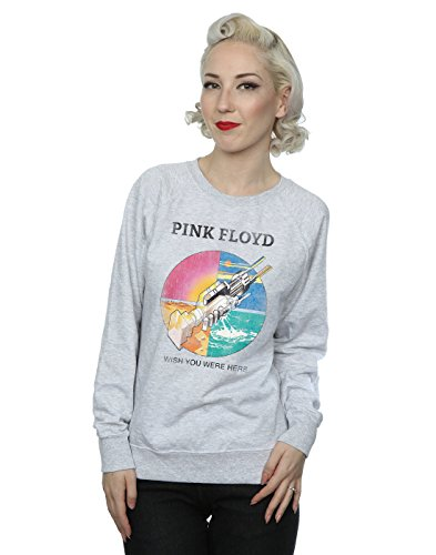 Pink Floyd Damen Wish You Were Here Prism Sweatshirt Medium Heather Grey (Pink Floyd-tags)