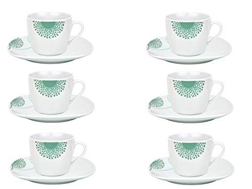6er Set Kaffeetasse mit Untertasse Modena Pusteblume