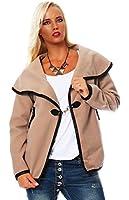 10258 Fashion4Young Damen Kurzjacke Jäckchen Jacke kurze Locker geschnittene Jacke verfügbar in 6 Farben