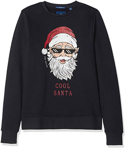 TOM TAILOR Kids Jungen Sweatshirt Placed Print, Blau (Dark Navy|Blue 3190) 176