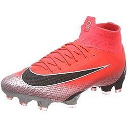 Nike Superfly 6 Pro Cr7 FG, Chaussures de Football Mixte Adulte, Rouge (BRT Crimson/Black/Chrome/DK Grey 600), 43 EU