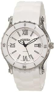 Roamer of Switzerland Women's 942980 41 23 09 Pure Ceramic Luminous White Rubber Watch