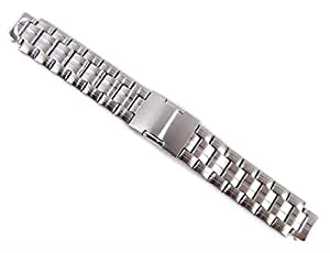 Timex Tide Temp Herren Uhrenarmband Ersatzband Edelstahl Band silbern T2N738